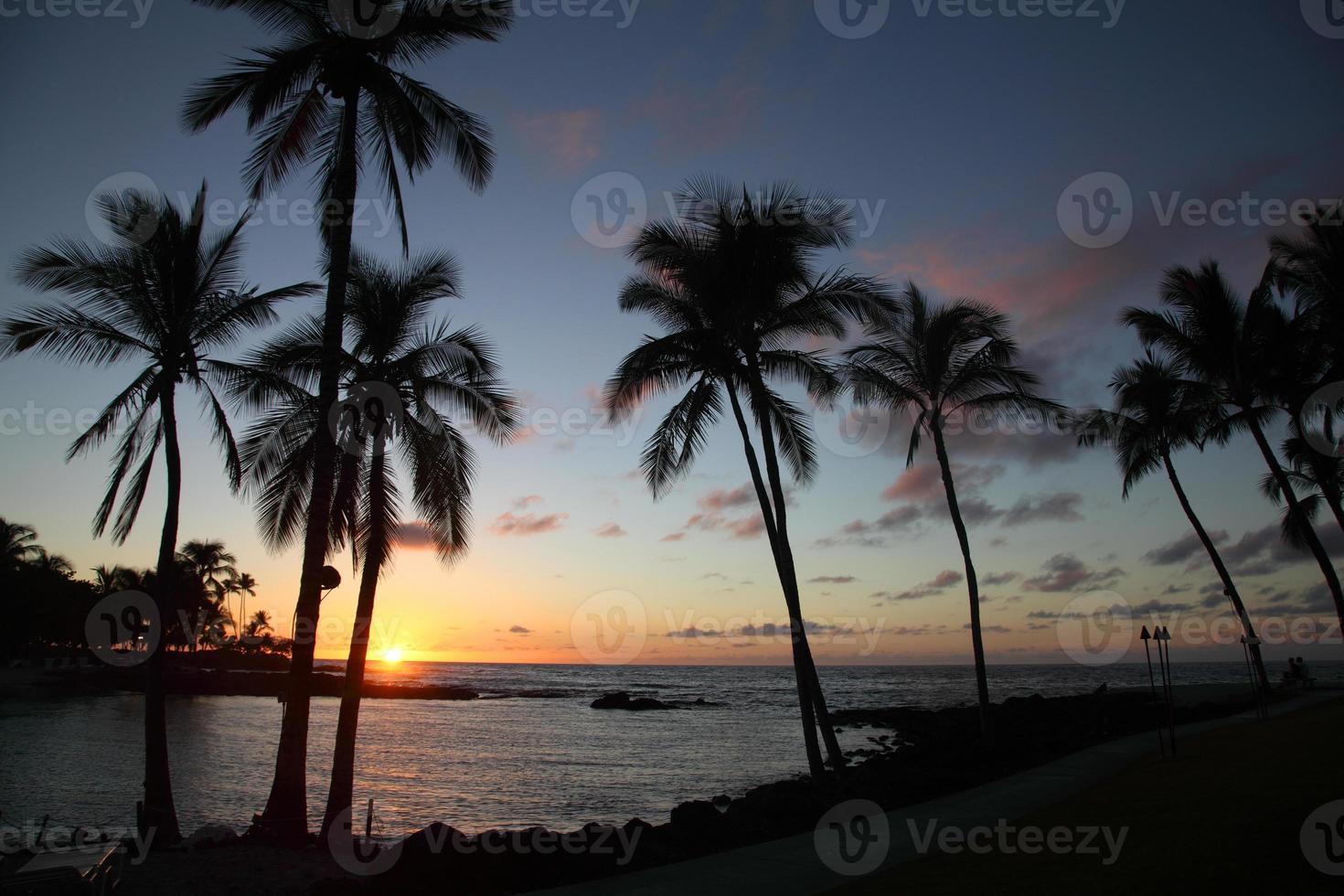 tramonto in hawaii foto