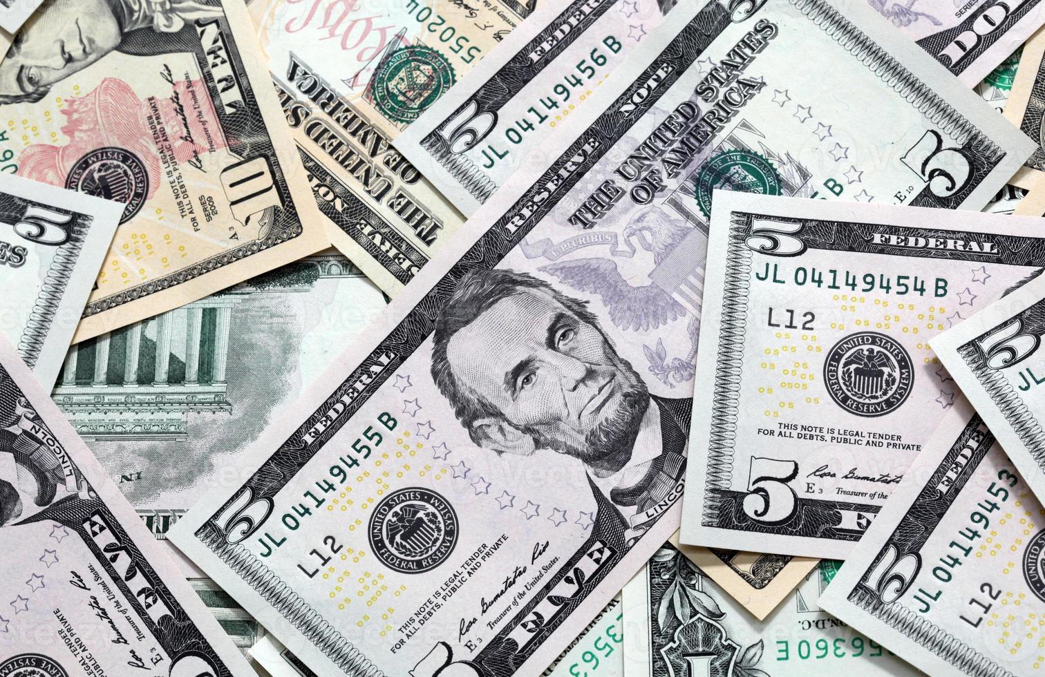Stati Uniti di denaro americano foto