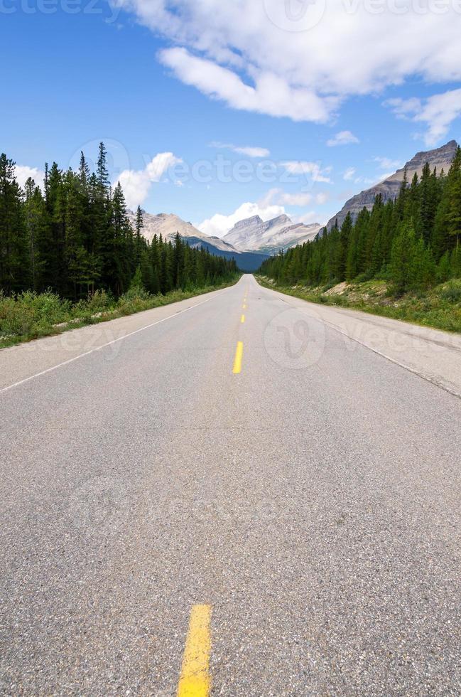 strada panoramica icefield in canada foto