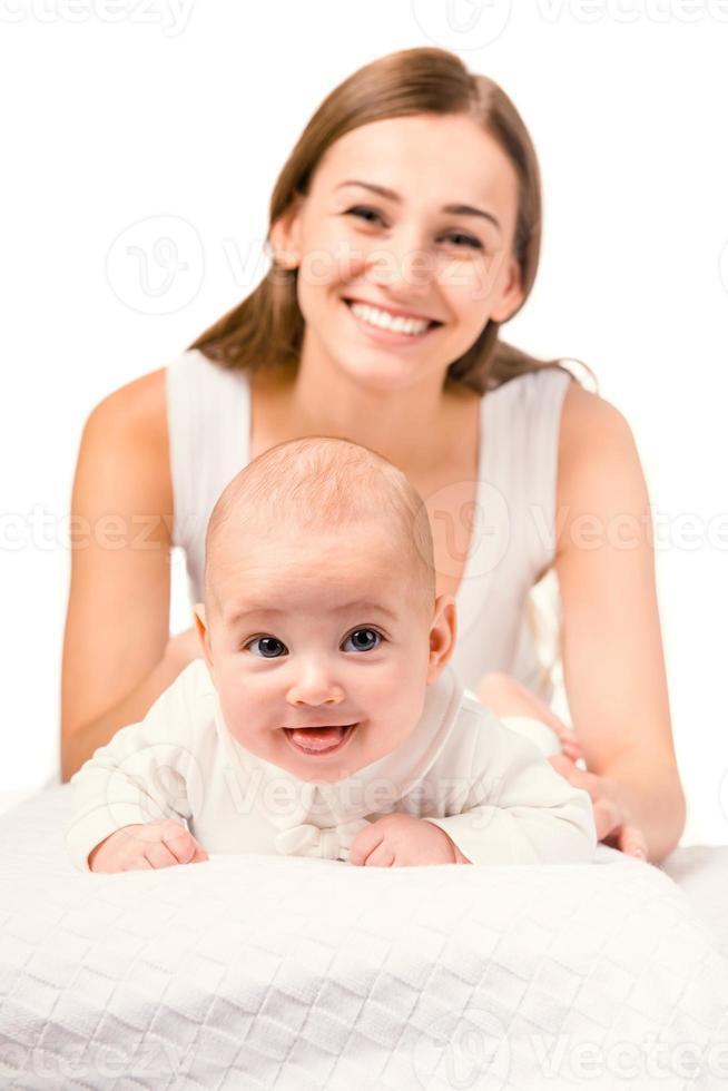piccolo bambino felice foto