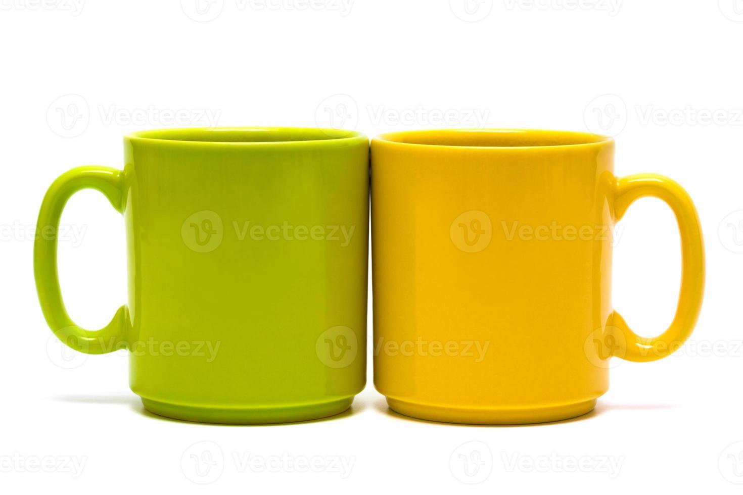 tazza gialla e verde foto