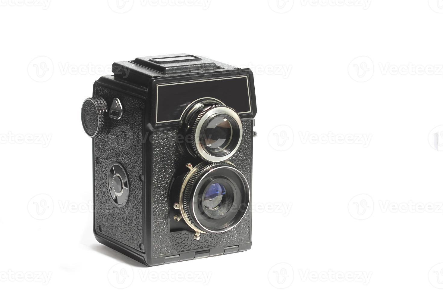 fotocamera a medio formato vintage amatoriale specchio a doppia lente foto