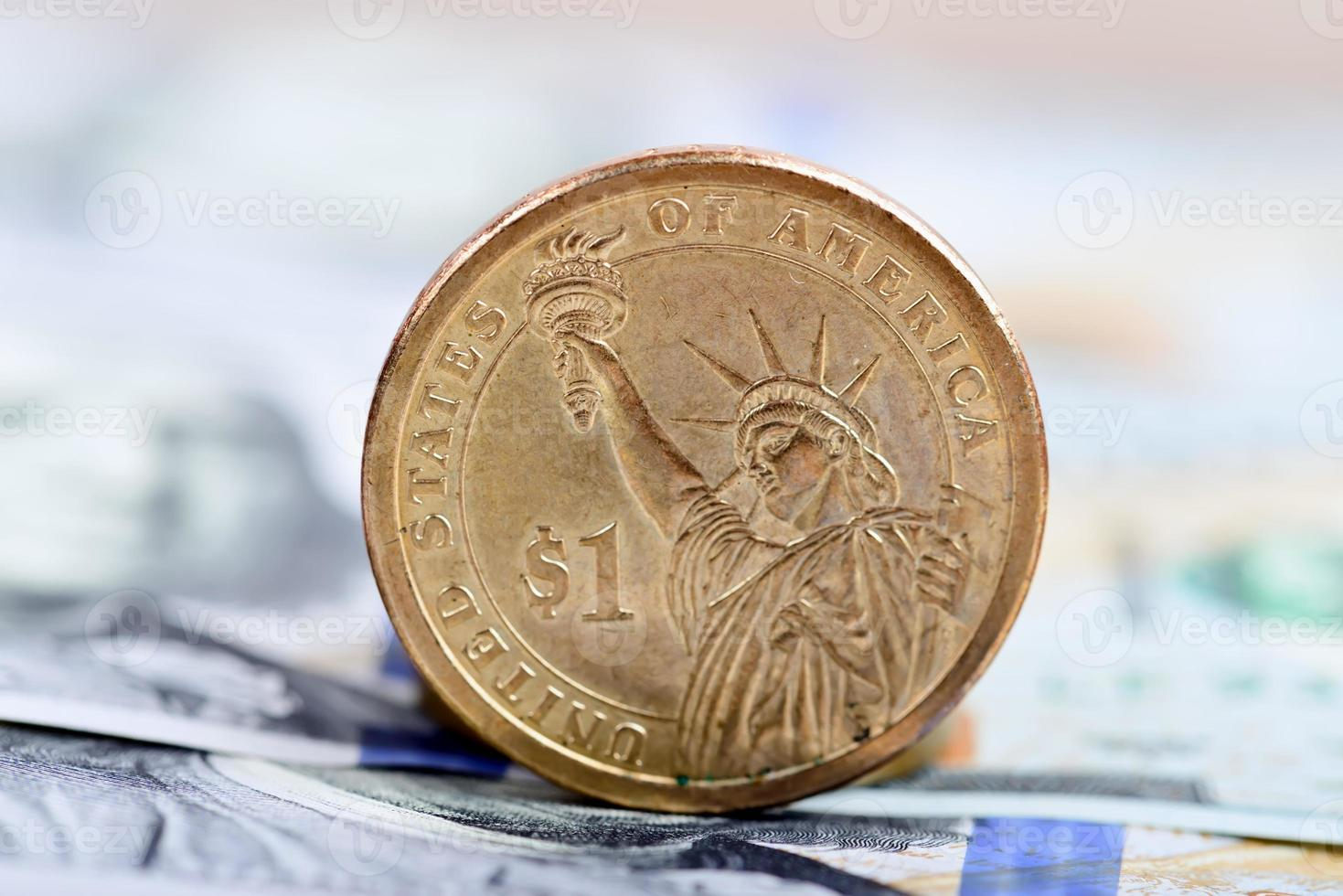moneta da un dollaro foto