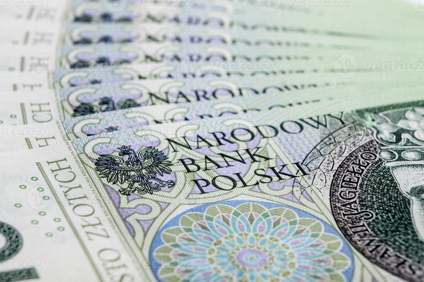 banconota 100 pln - zloty polacco foto
