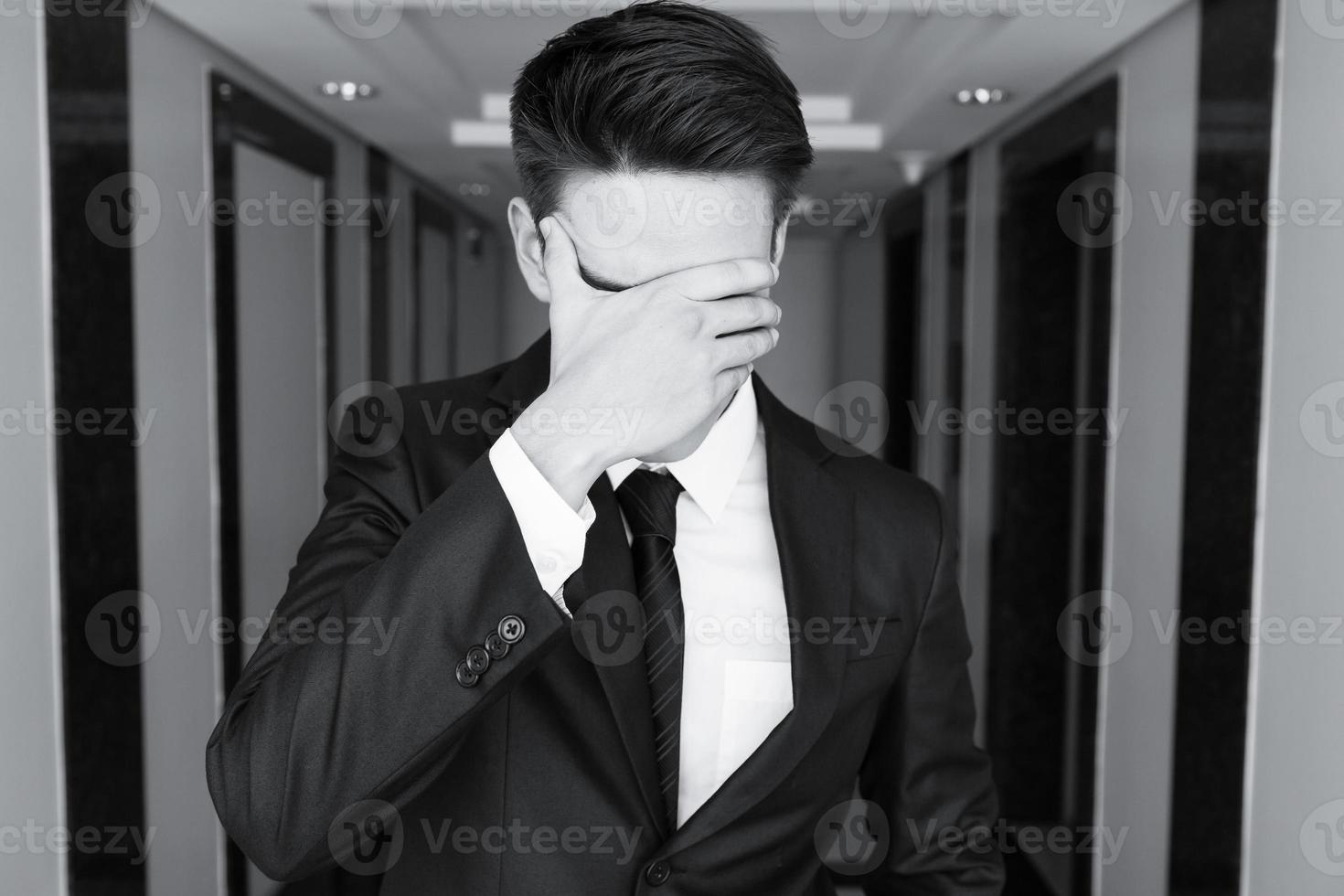 uomo d'affari stressato foto