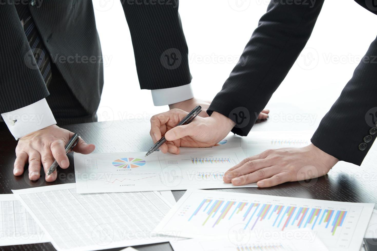 concetto di business, incontro foto