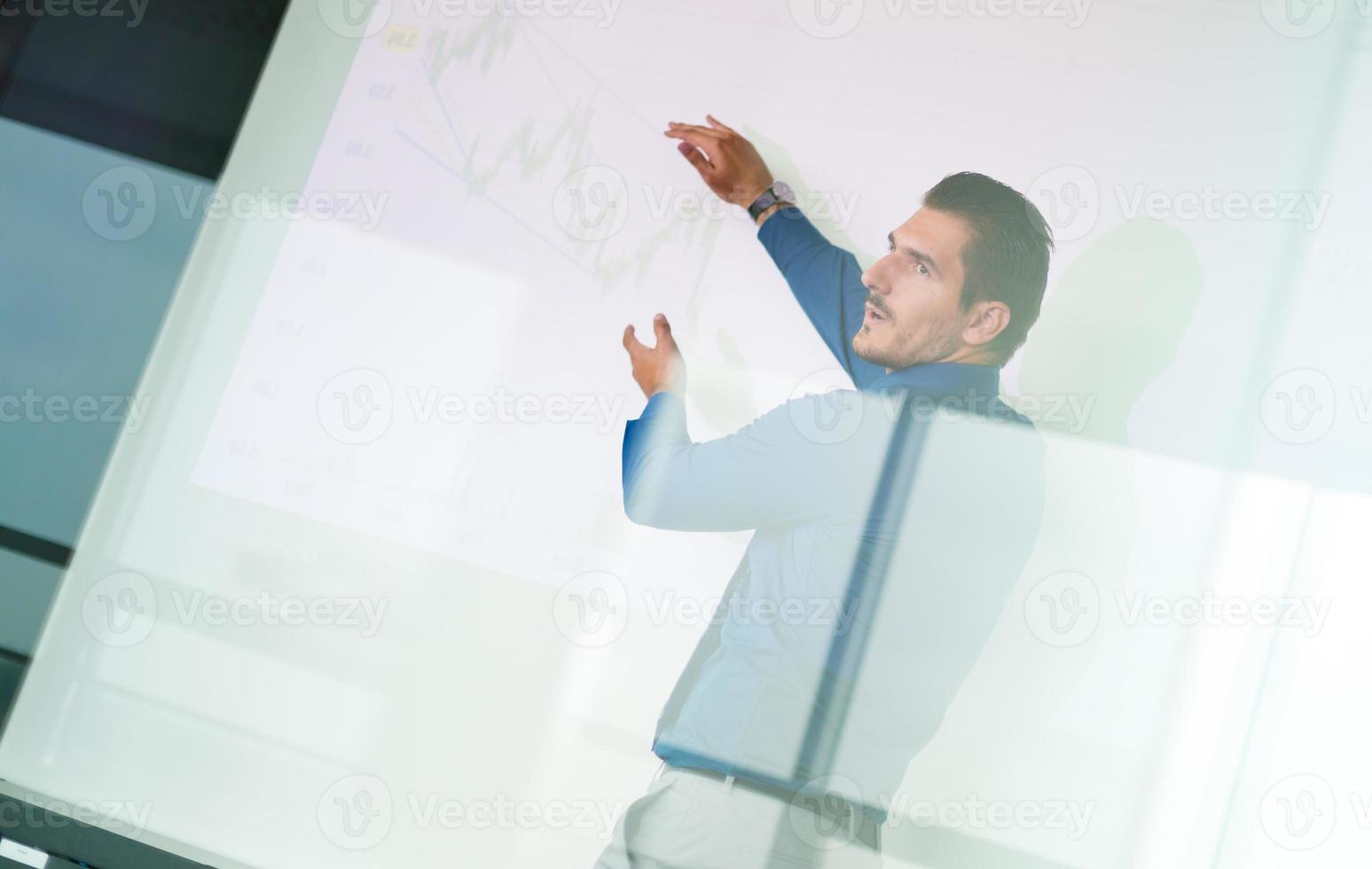 presentazione aziendale su meeting aziendali. foto