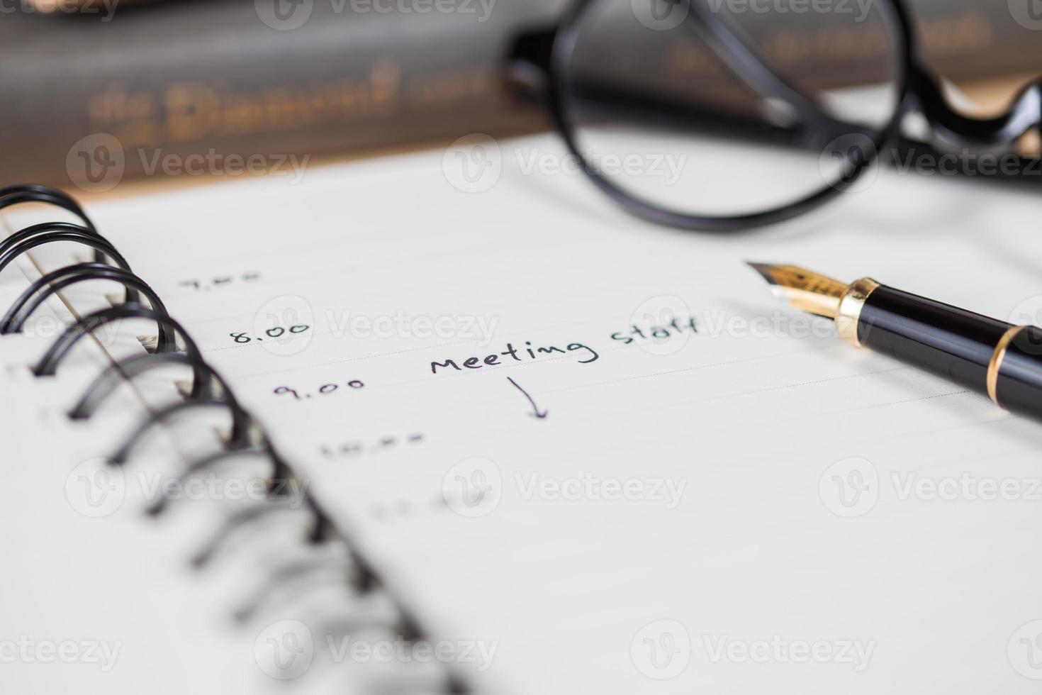 calendario delle riunioni foto
