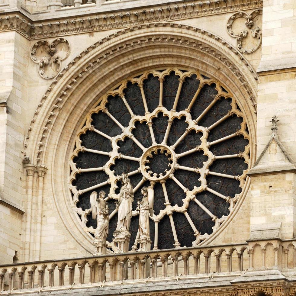 rosone della cattedrale di Notre Dame, Parigi foto
