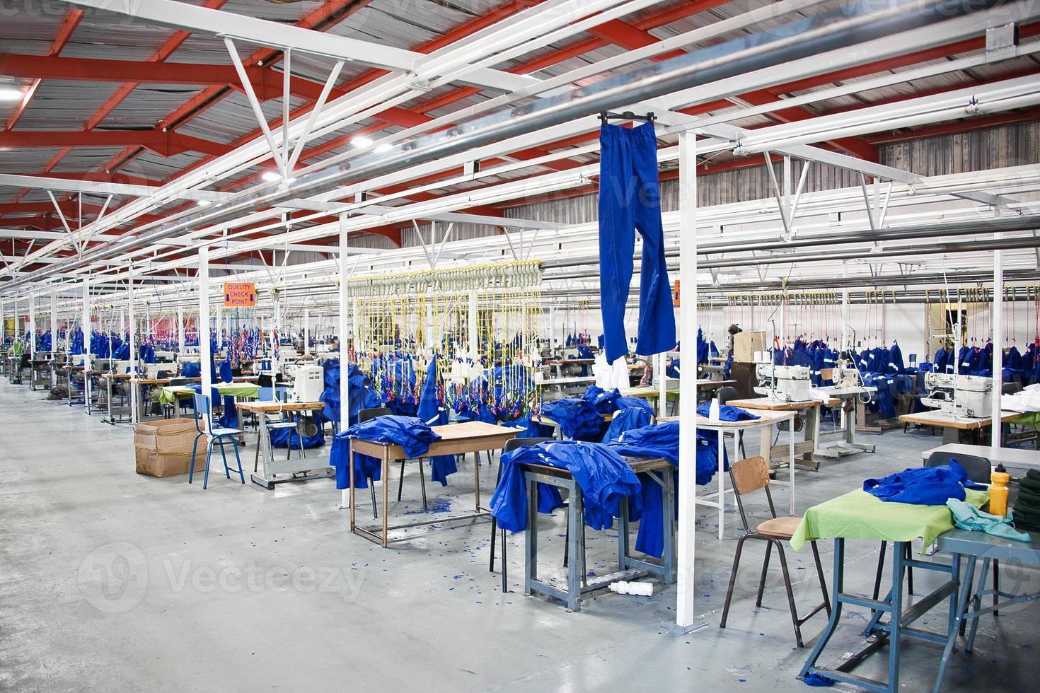 fabbrica tessile industriale foto