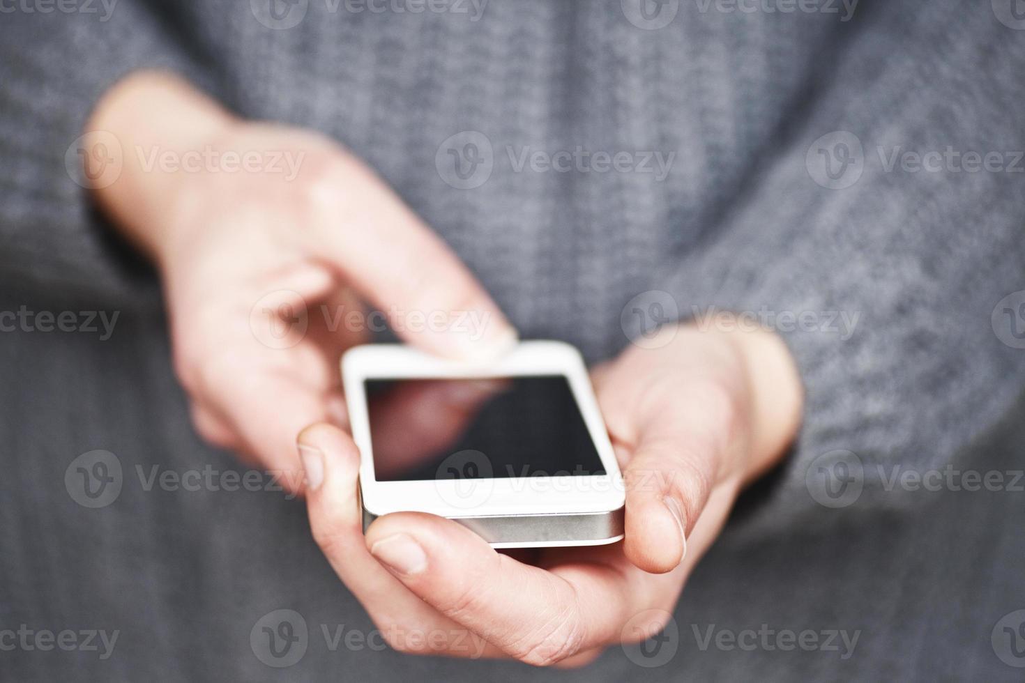 usando uno smartphone foto