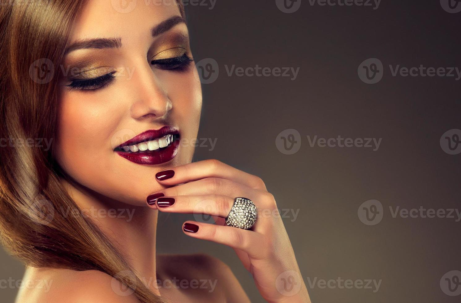 stile di moda di lusso, manicure unghie. foto