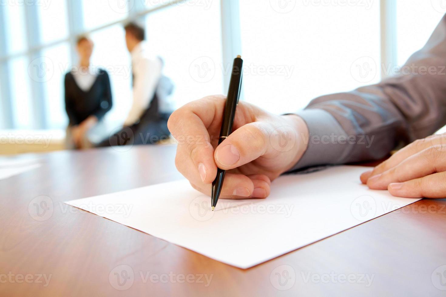 scrivere piano di lavoro foto