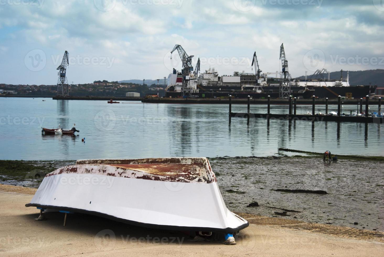 zona di costruzione navale foto