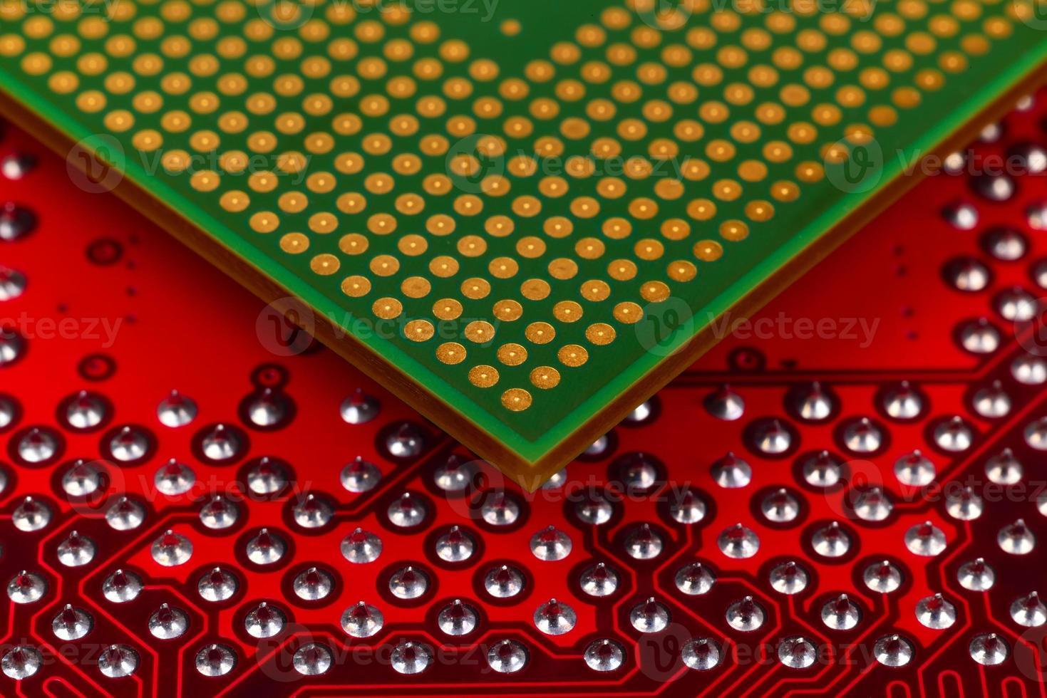 chip della CPU del computer foto