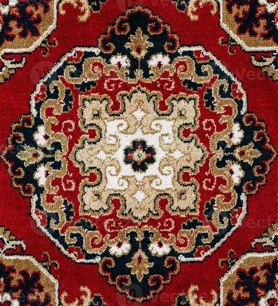 sfondo tappeto persiano orientale rosso foto