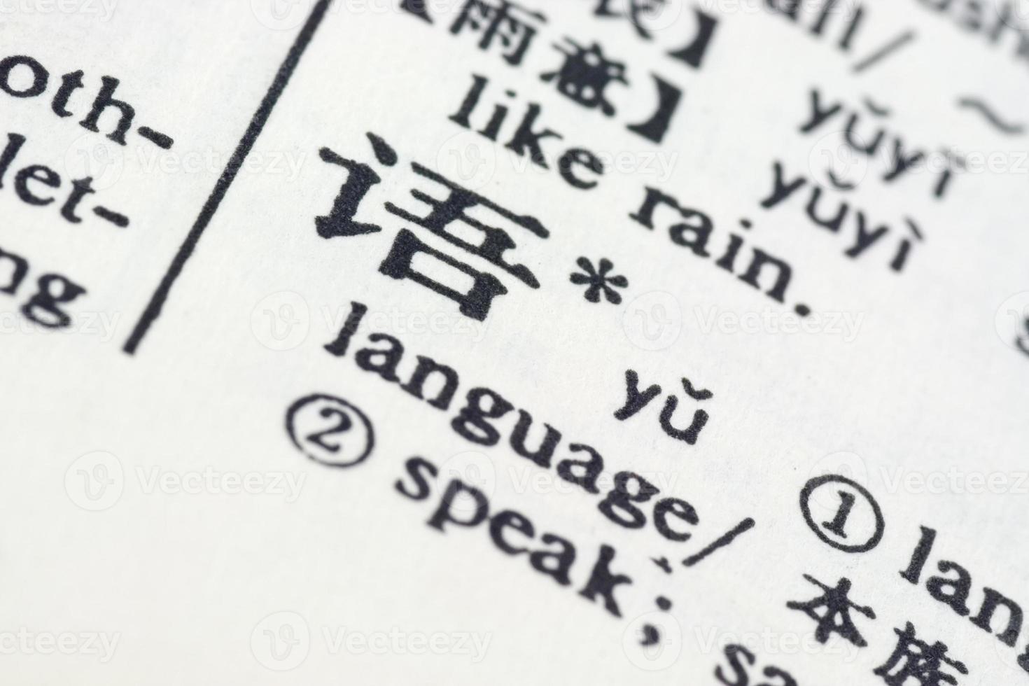 lingua scritta in cinese foto