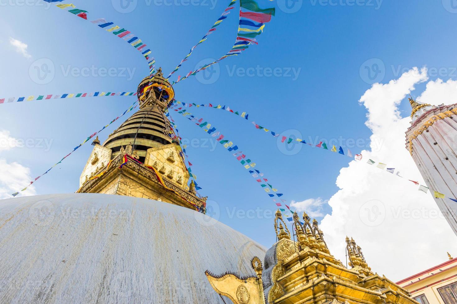 tempio di swayambhunath, tempio delle scimmie Kathmandu, Nepal. foto