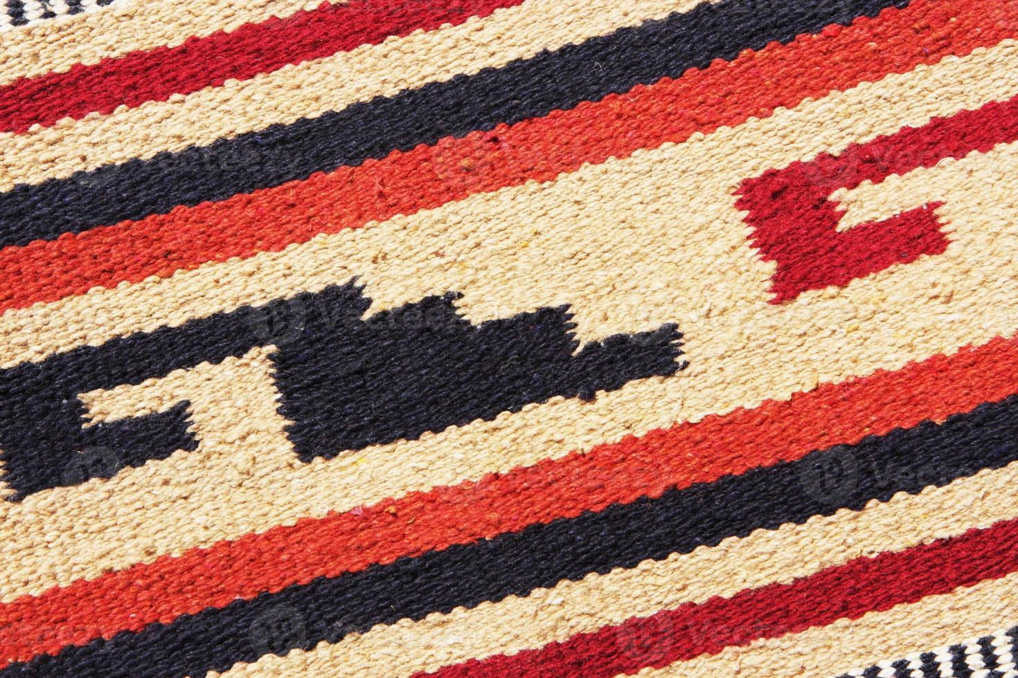 design del tessuto tappeto coperta navajo foto