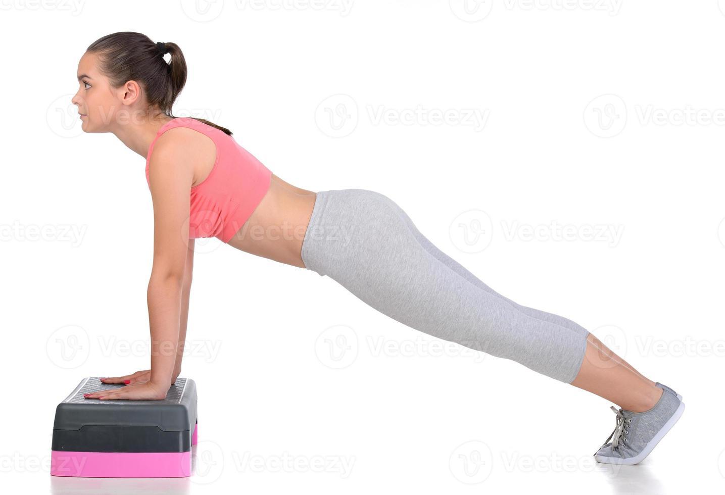 adolescente fitness foto