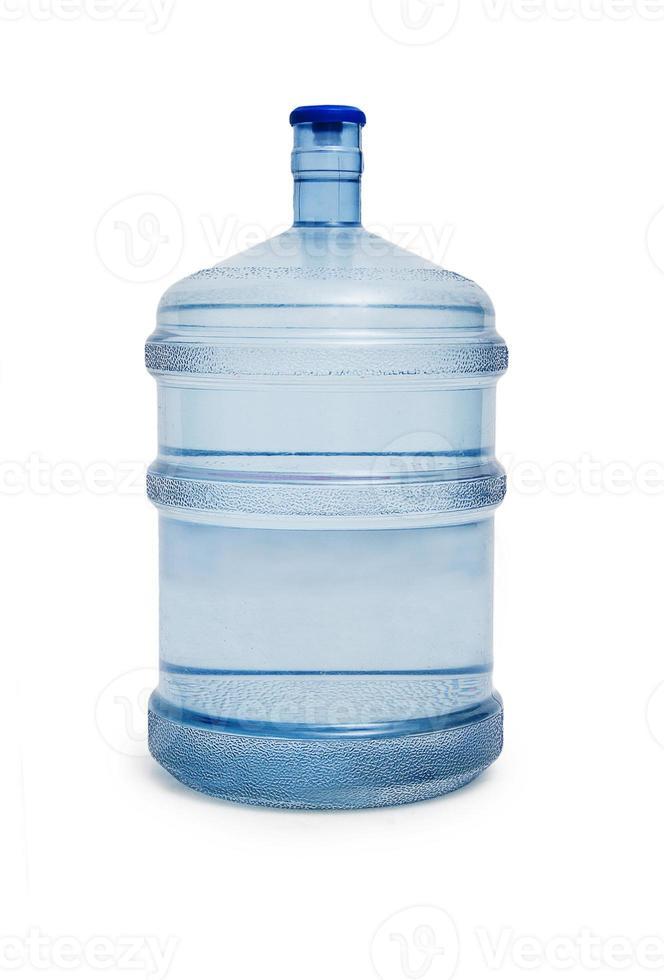 grande bottiglia d'acqua isolata su uno sfondo bianco foto