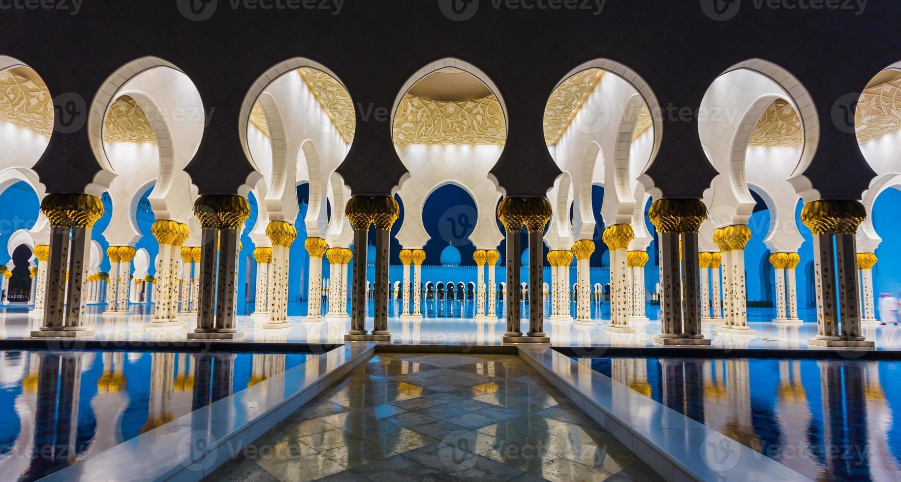 la moschea di Shaikh zayed foto