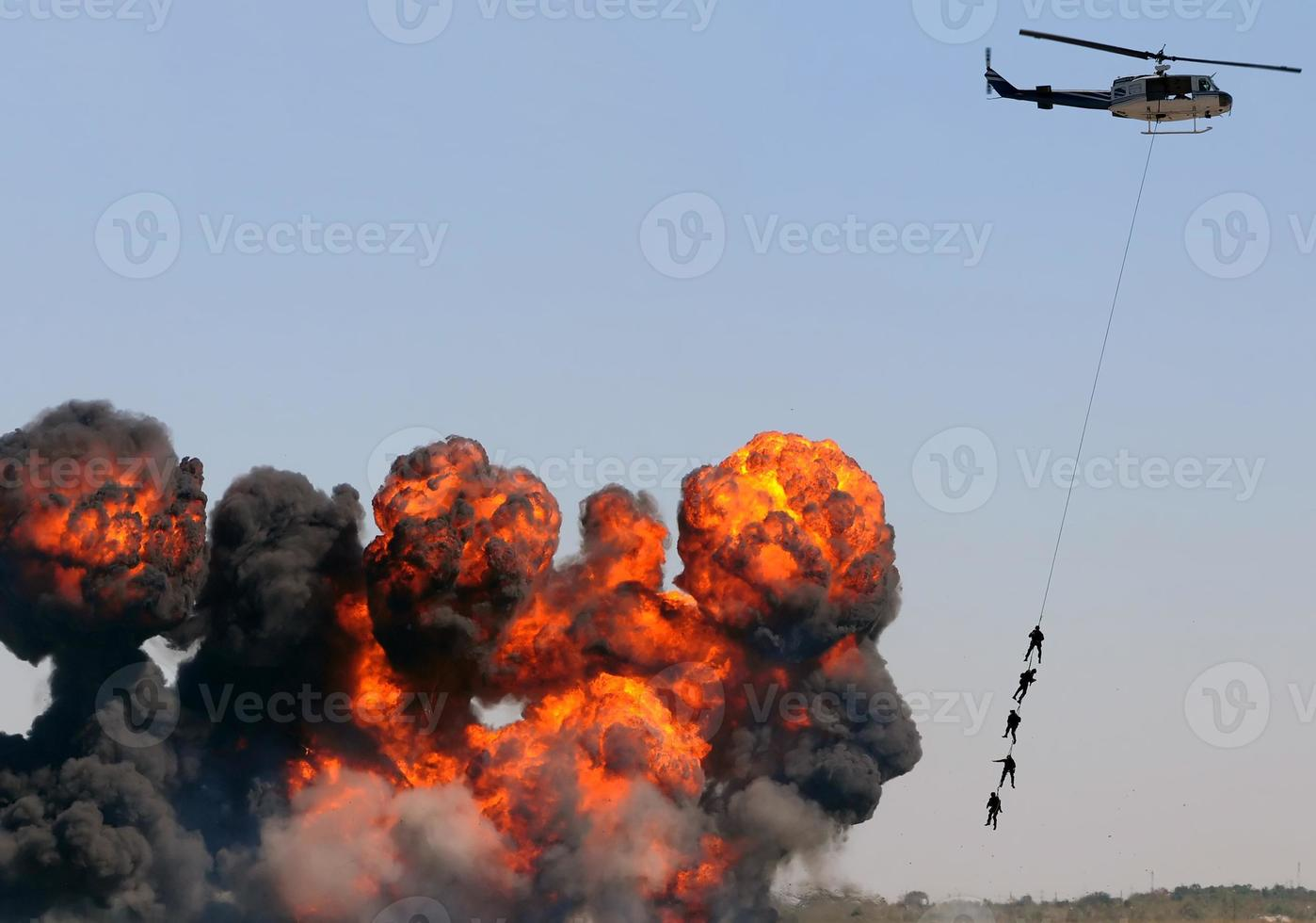 salvataggio in elicottero foto