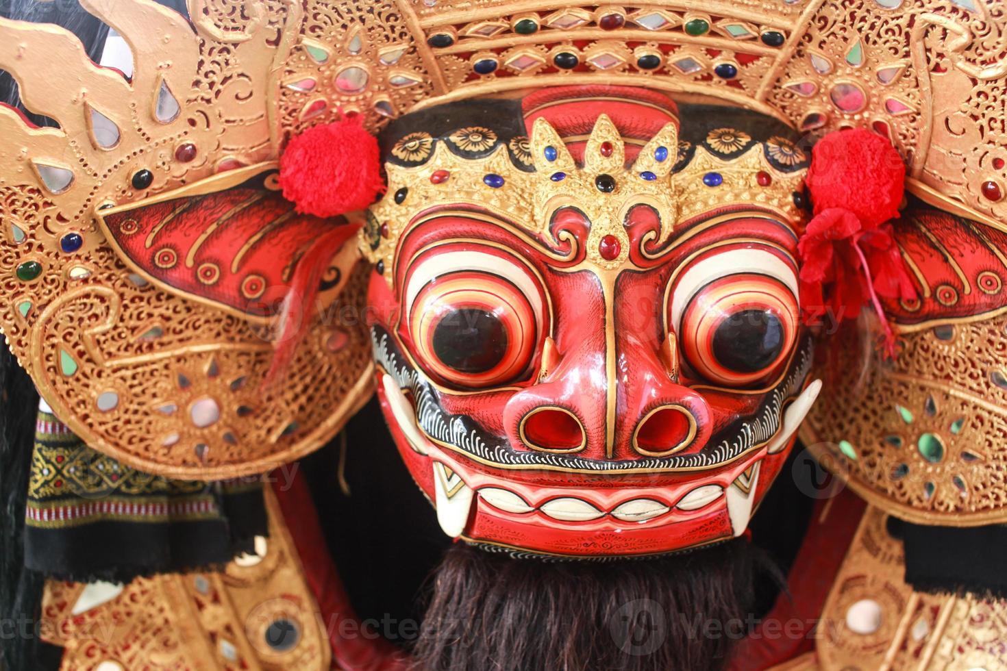 maschera barong, firma della cultura balinese foto