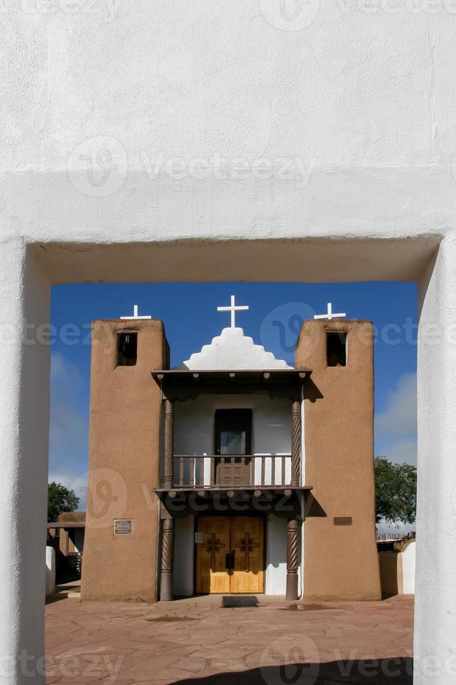 cappella di san geronimo a taos pueblo, stati uniti d'america foto