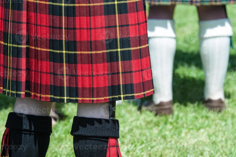 uomo scozzese in un kilt foto