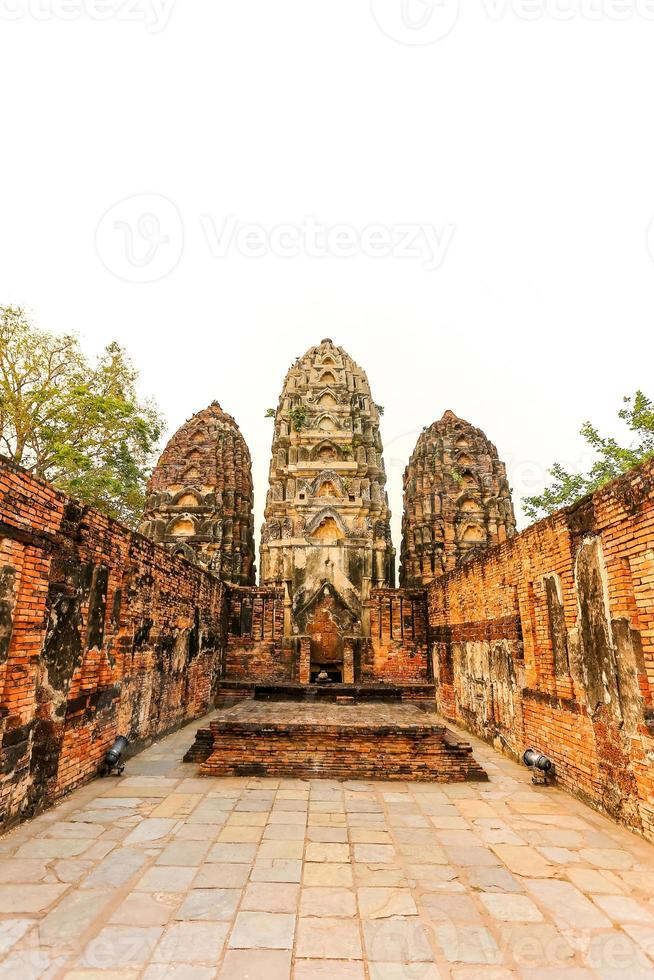 Parco storico di Sukhothai la città vecchia di Thailandia foto