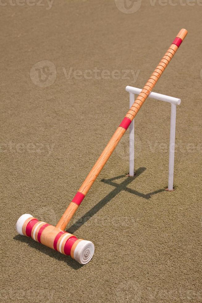 mazzuolo di croquet rosso foto