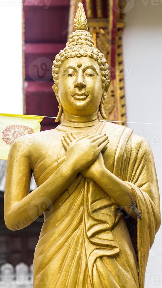 statua dorata dorata di Buddha in piedi foto