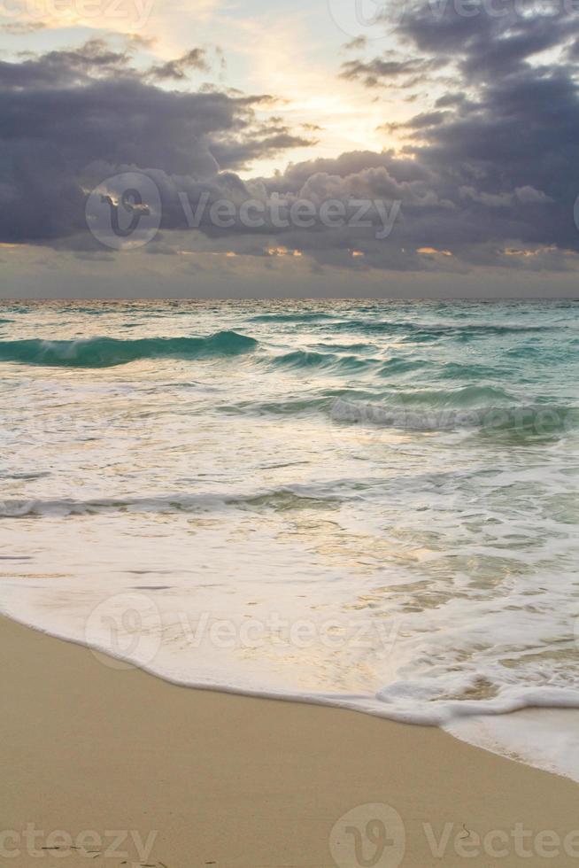 spiaggia del mar dei caraibi foto