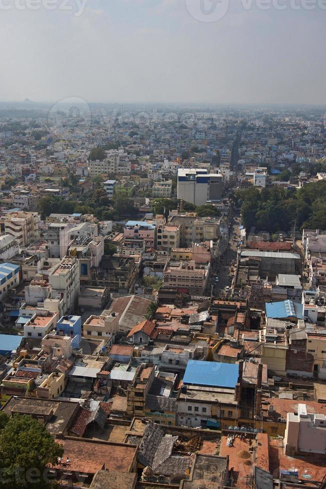 India, trichy, tetti della città foto