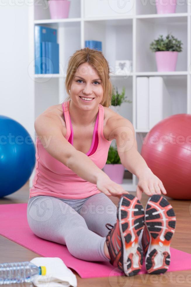 stretching dopo l'allenamento foto