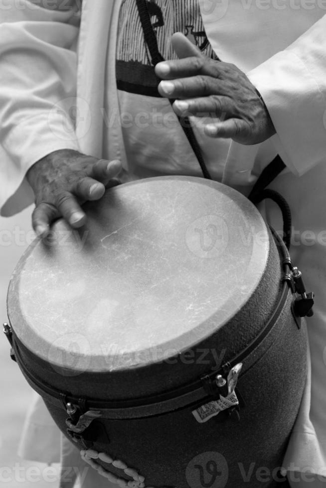 batterista afroamericano foto