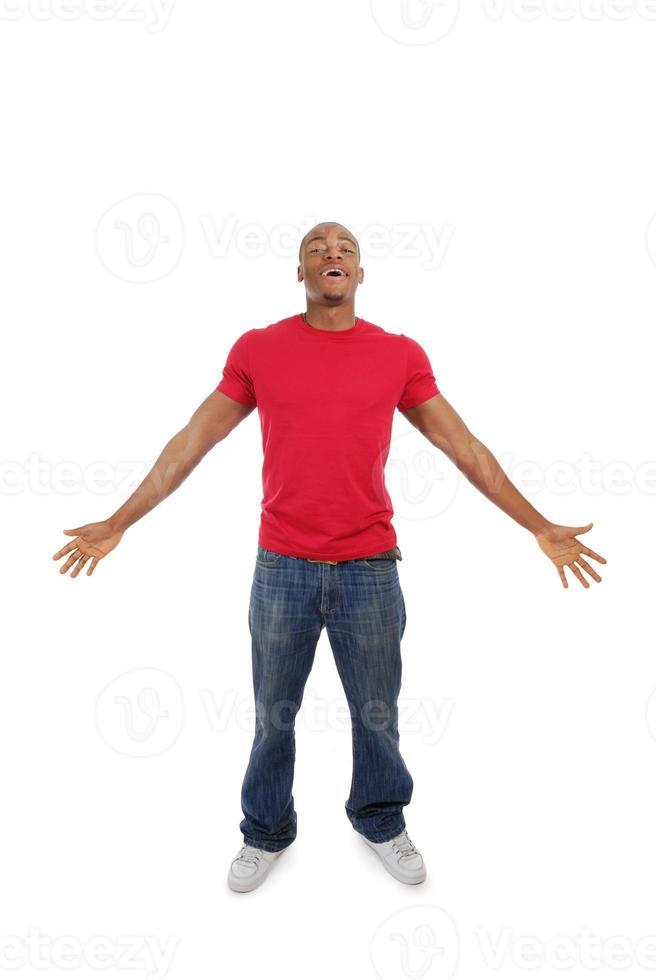uomo afroamericano eccitato foto