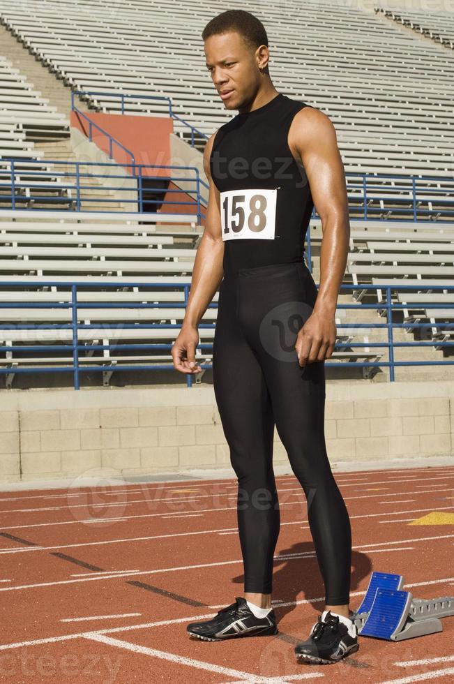 atleta di atletica maschile foto