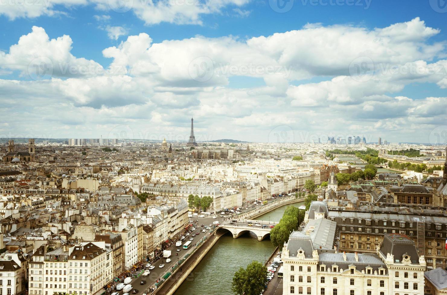 vista su parigi, francia foto