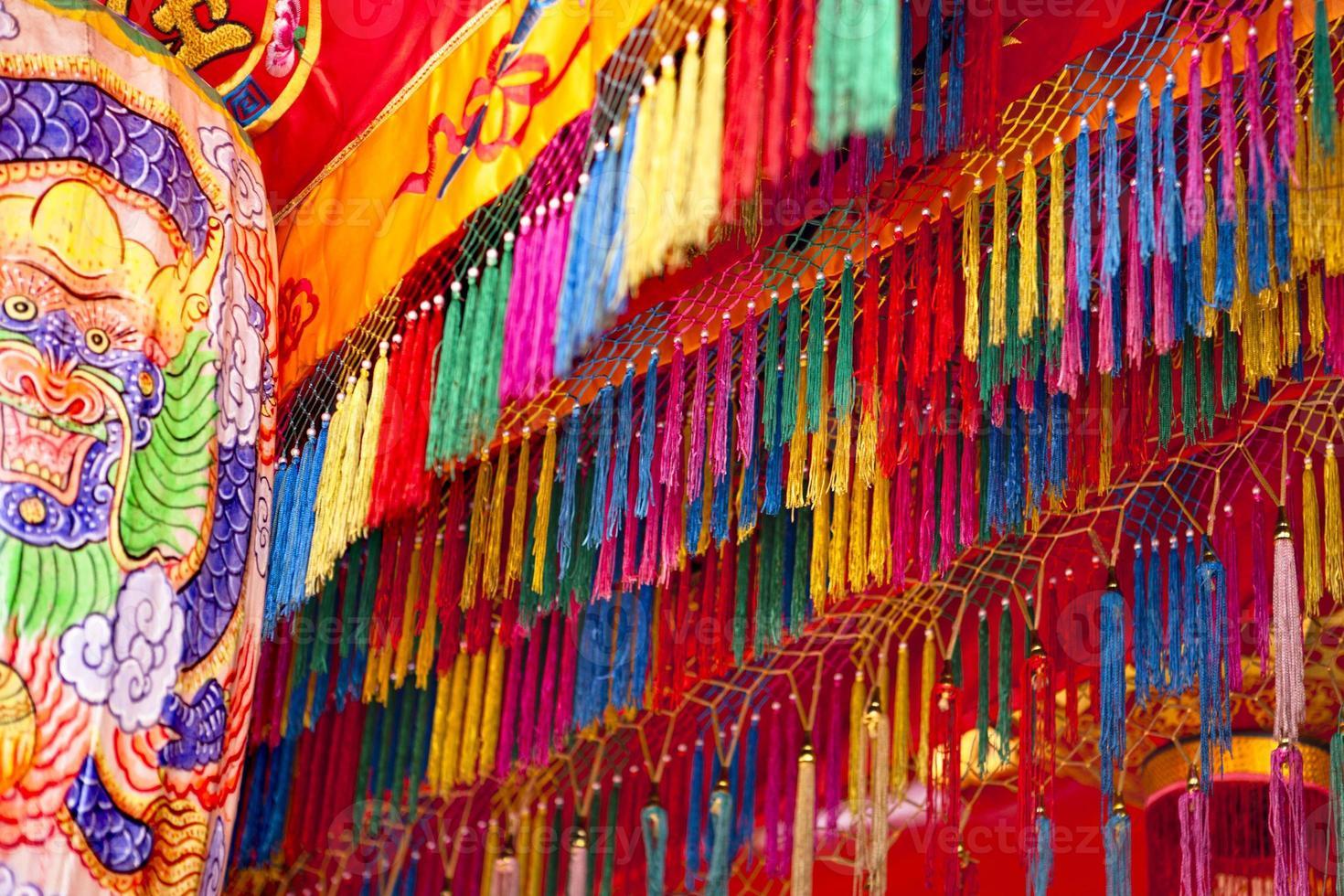 decorazione del tempio asiatico foto