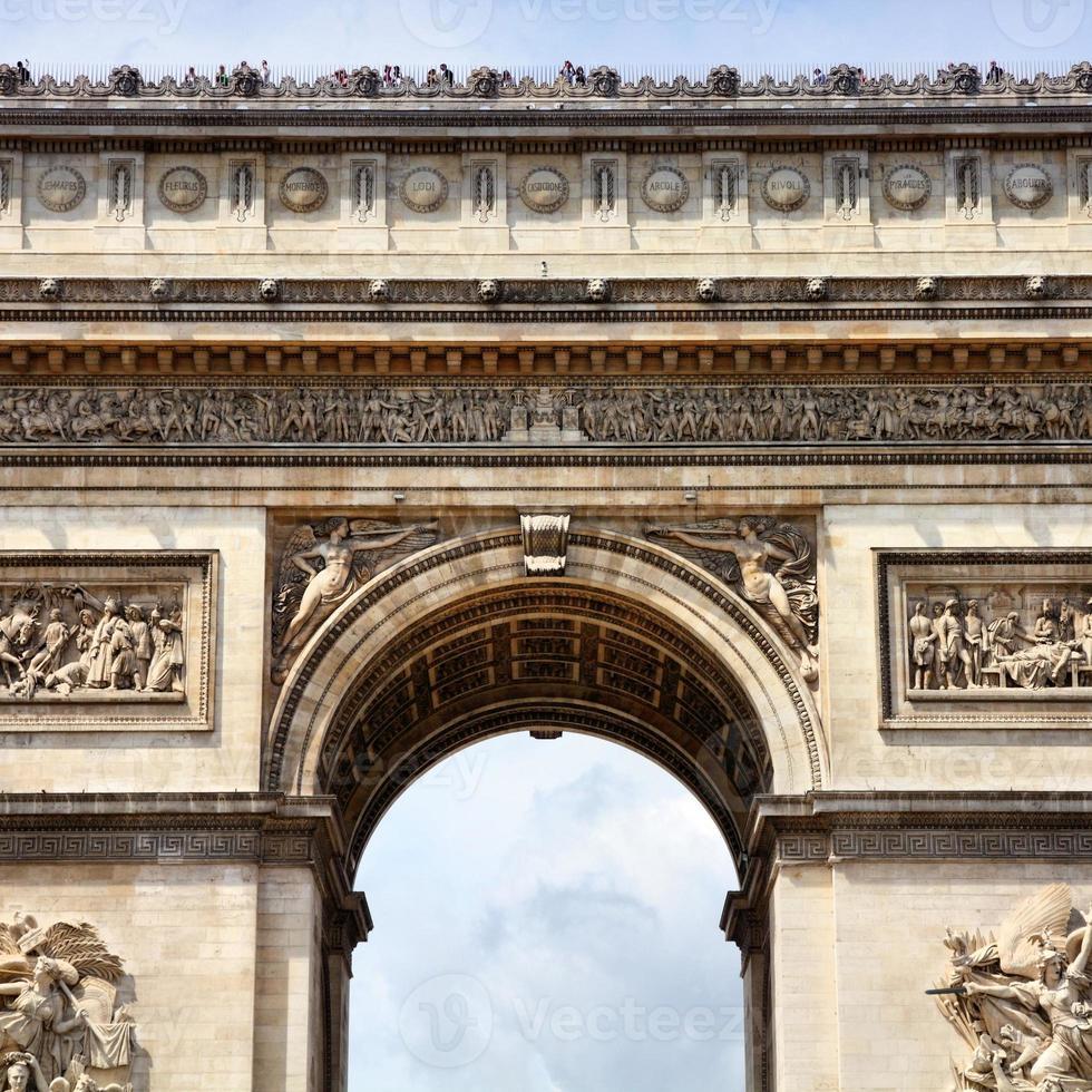arco di trionfo, Parigi foto
