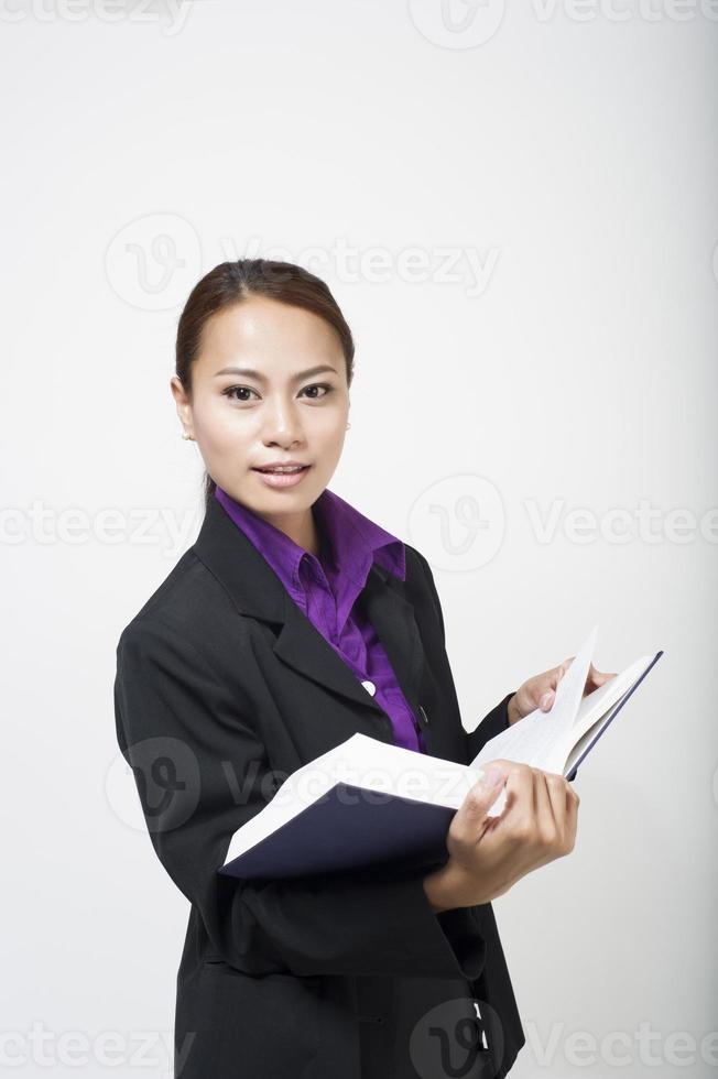 segretaria asiatica foto