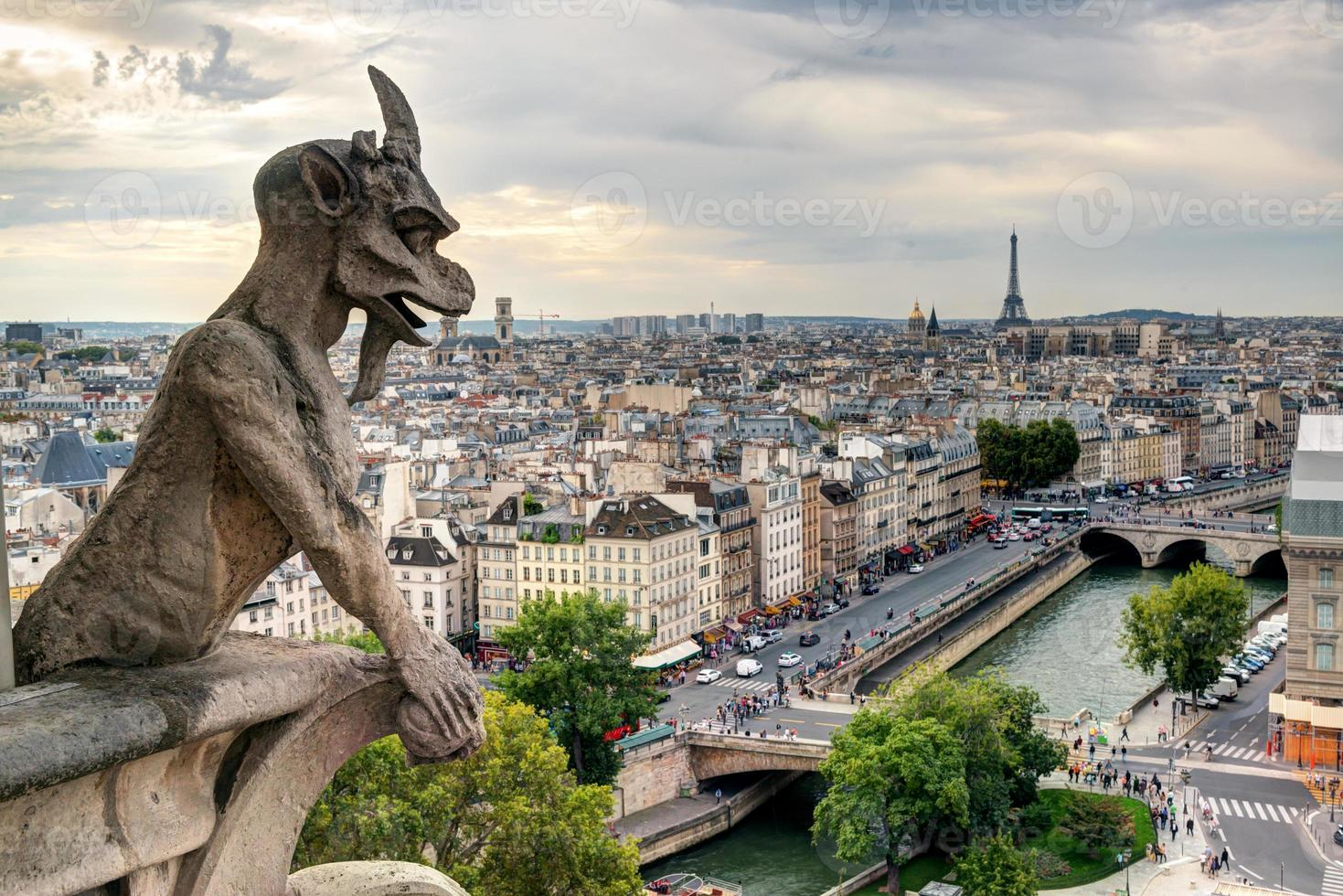 Chimera di Notre Dame de Paris foto