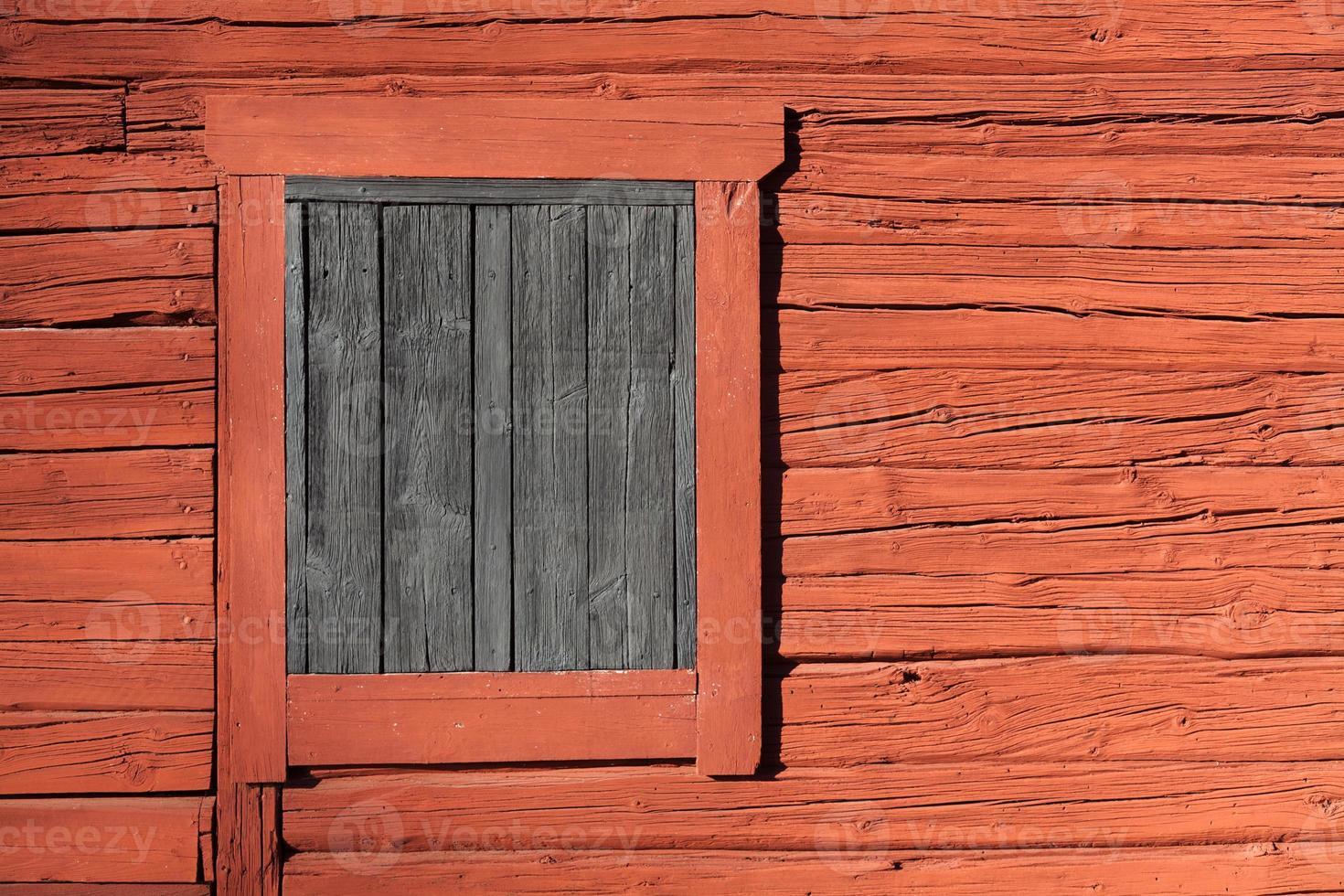 rosso falu - vernice svedese foto
