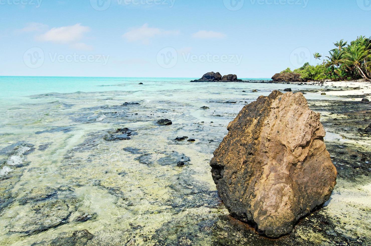 paesaggio dell'isola di rapota nelle isole Cook laguna di aitutaki foto