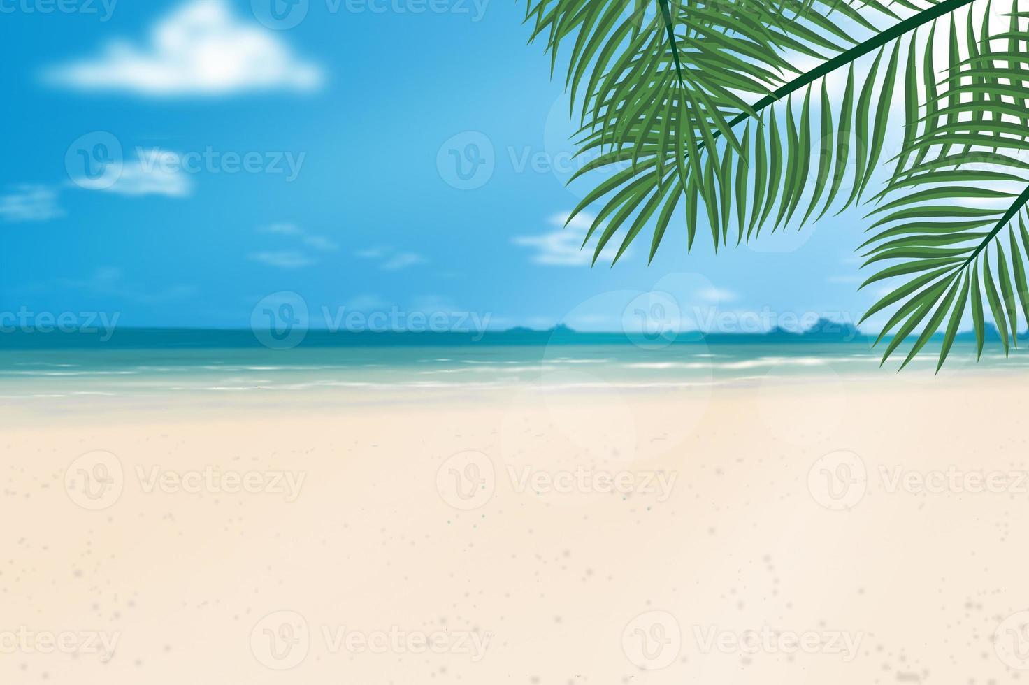 spiaggia di sabbia in estate. foto