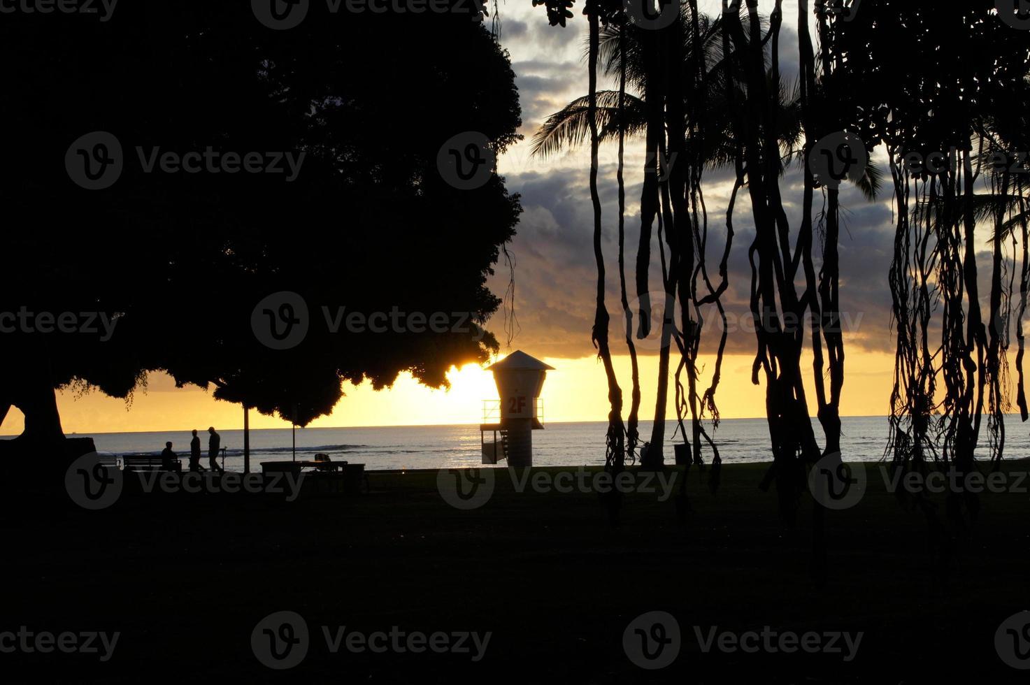 sagoma del parco spiaggia foto