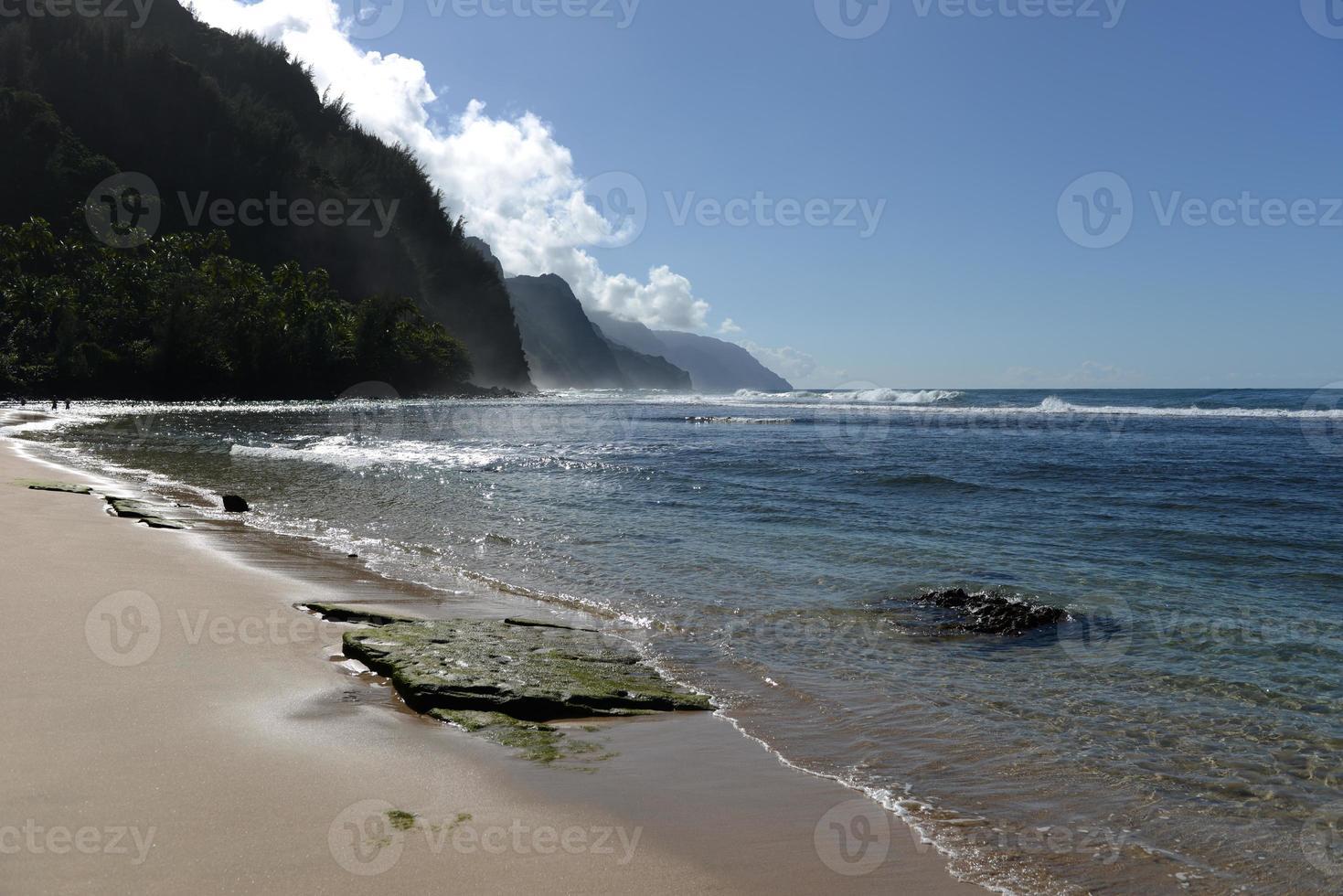 spiaggia di ke'e - orizzontale foto