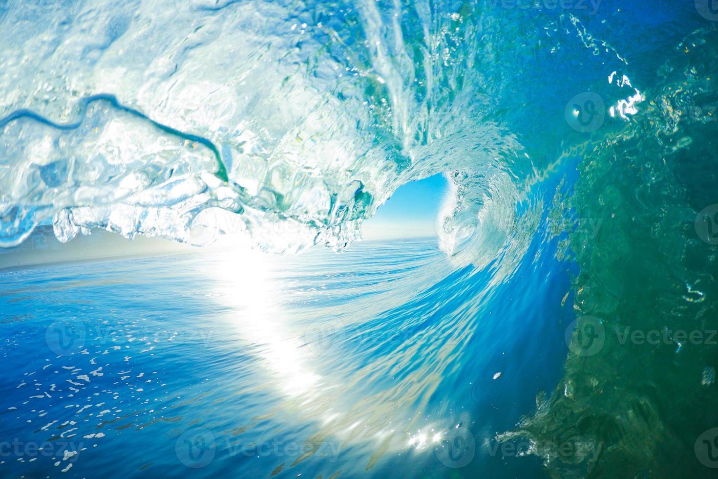 onda dell'oceano blu foto